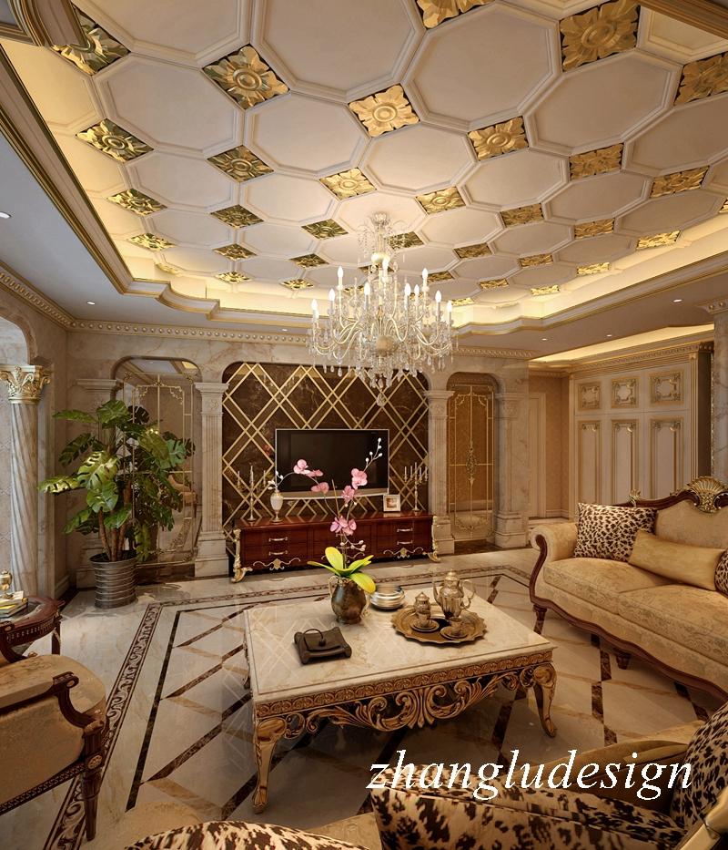 案例风格:欧式古典 设计师:张工 户型特点:四室两厅 户型面积:220平米 设计风格:欧式古典 装饰公司:润邦装饰 设计说明: 古典欧式风格,以华丽的装饰、浓烈的色彩、精美的造型达到雍容华贵的装饰效果。在这套案列的设计中,设计师更多的考虑到了居住的舒适性以及大宅气势,在美丽的姿态下,让各个空间的功能区得到最大化利用。  辉煌华丽的客厅顶面描金与地面微晶石对应,欧式家具陈列其中,大量石材饰面使室内空间气派、明亮。    酒柜的陈列将空间使用者的生活态度展现出来。华丽、古典、气派、人文、是多种元素的融合。