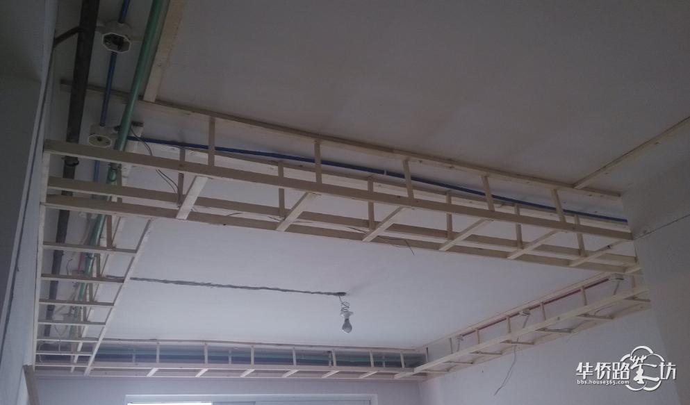 客厅吊顶的龙骨,横平竖直