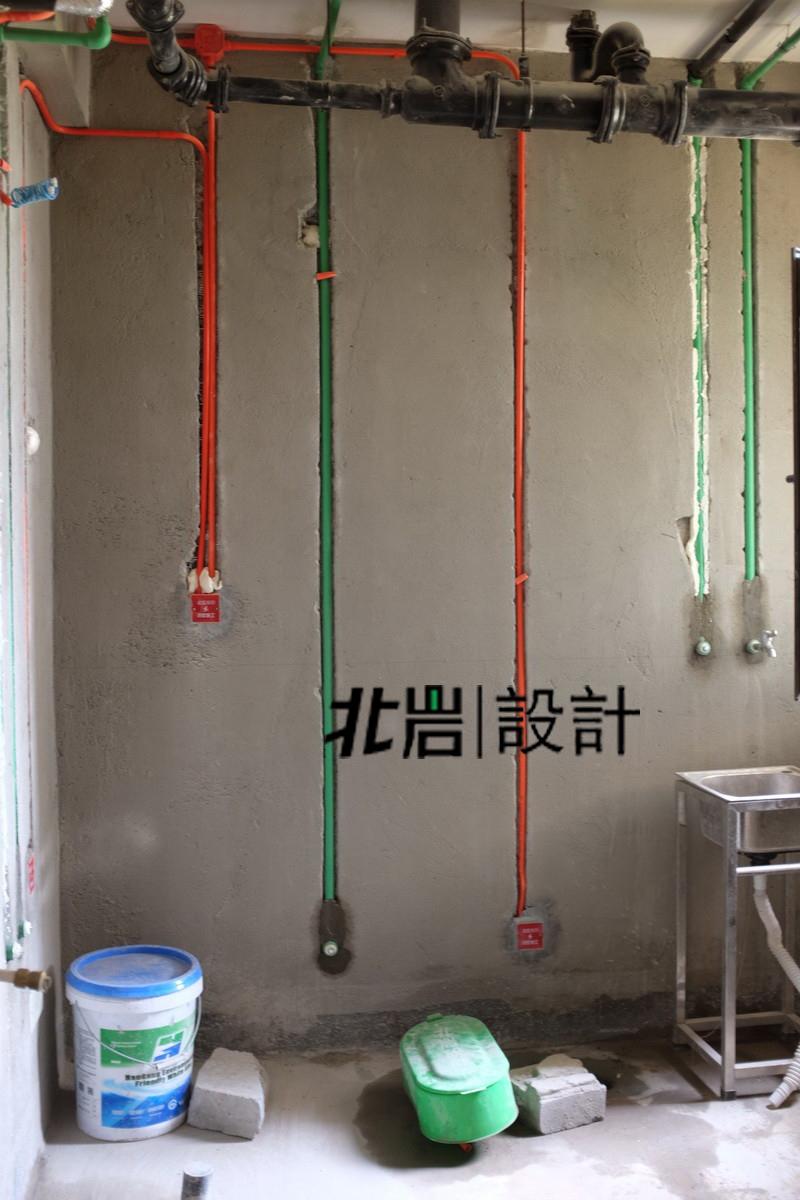 【北岩设计顶墅施工】工地实拍---水电验收篇_装饰_路