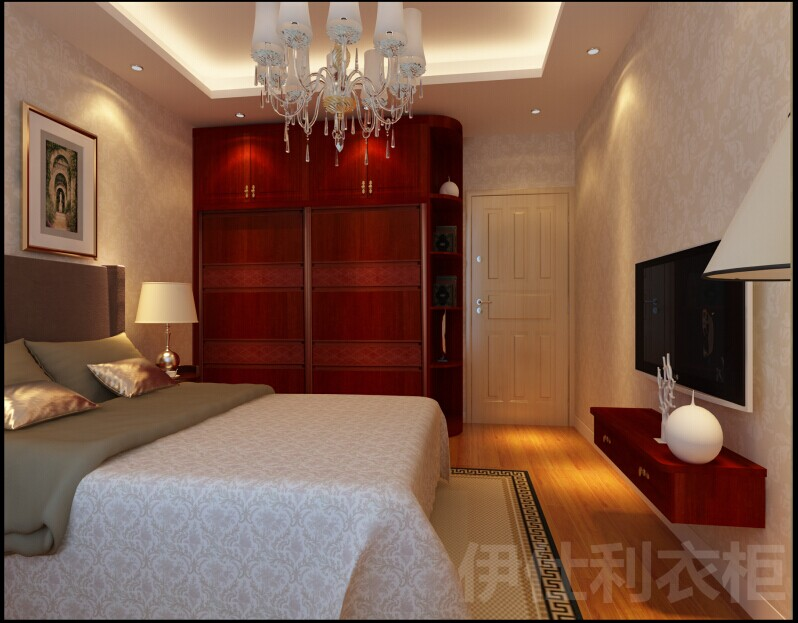 无衣柜卧室设计