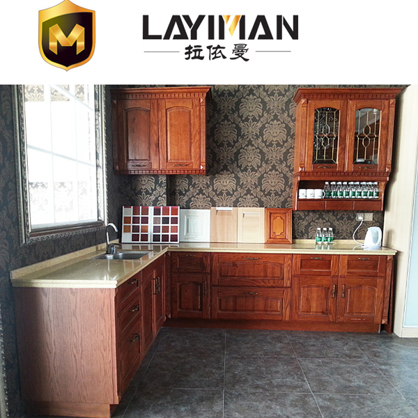 南京拉依曼整体橱柜美国红橡实木整体厨房橱柜欧式复