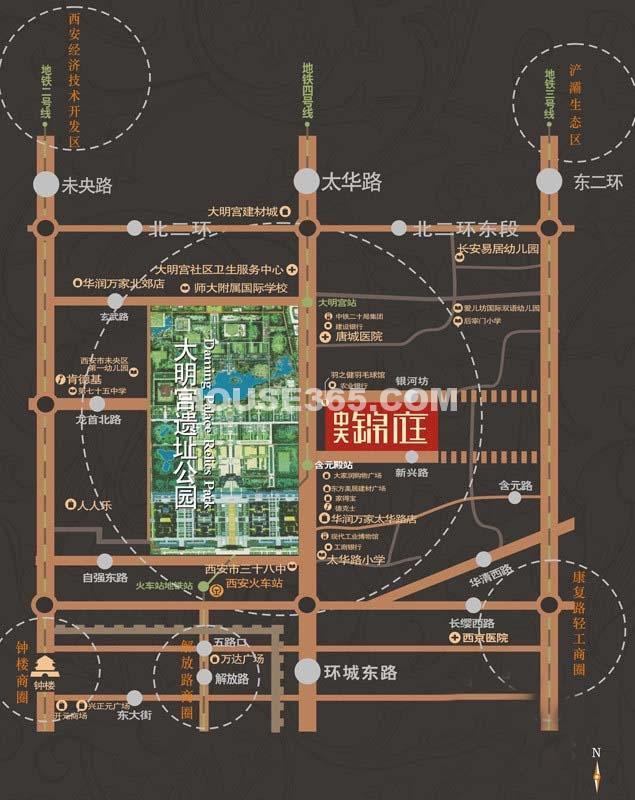 中天锦庭区位图