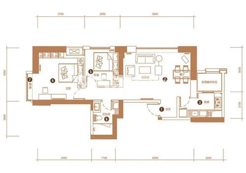 2室2厅1卫 93平米(售完)