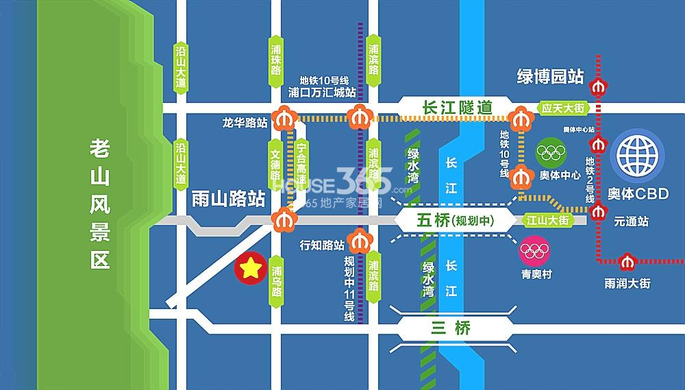 力标赞城交通图
