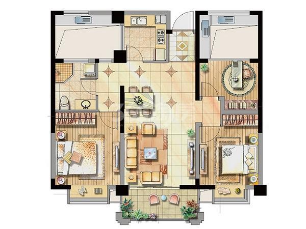 公寓2号楼标准层A3户型
