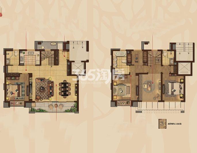 苏州铂悦府叠墅A1户型165㎡五室两厅三卫
