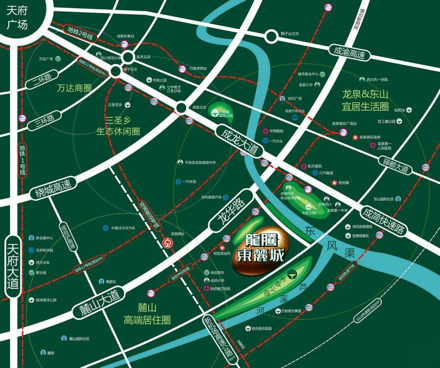 龙腾东麓城交通图