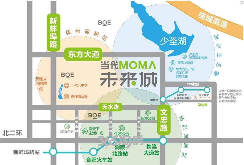 当代未来城交通图