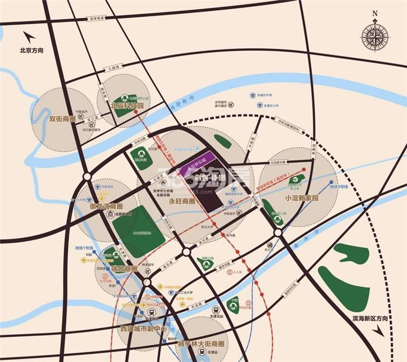 融创臻园交通图