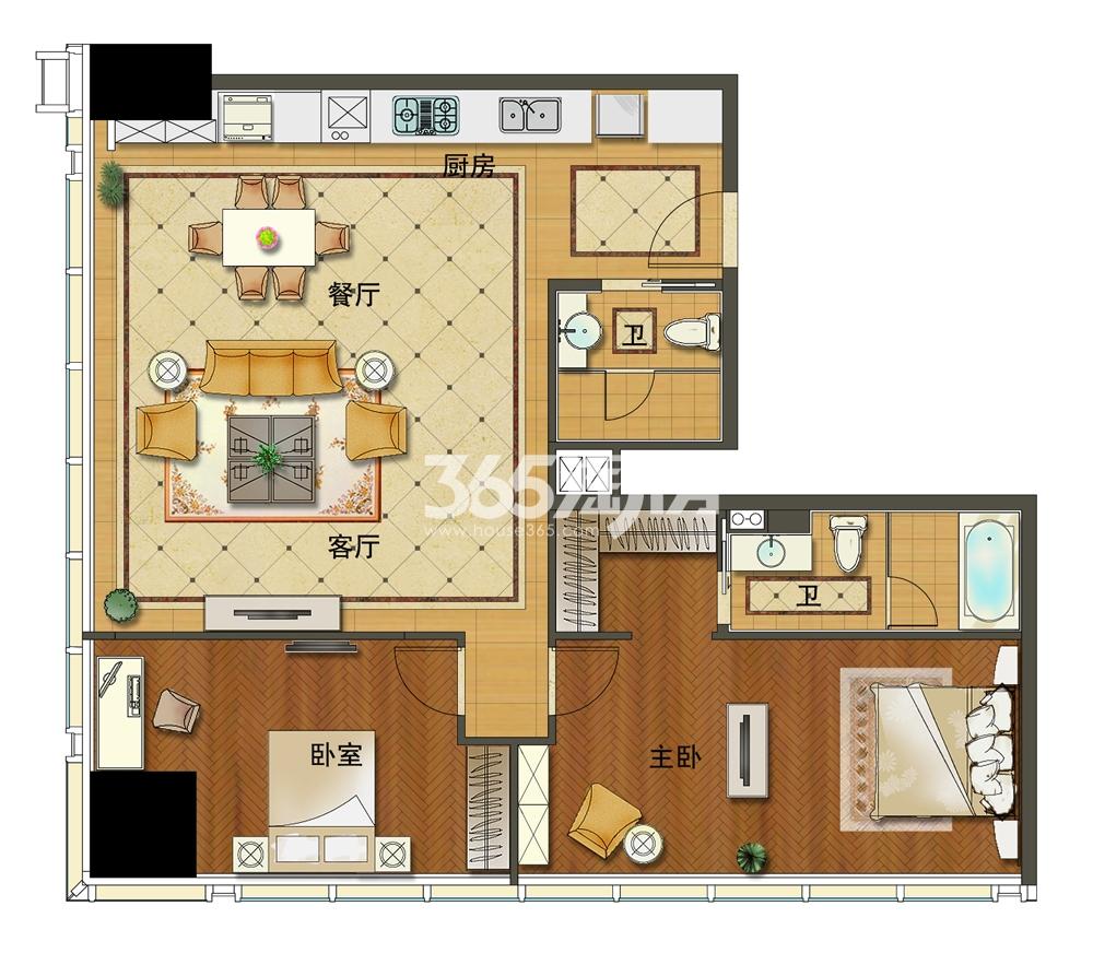 苏宁广场酒店式公寓B3户型