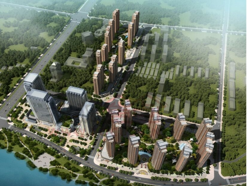 天湖国际鸟瞰图