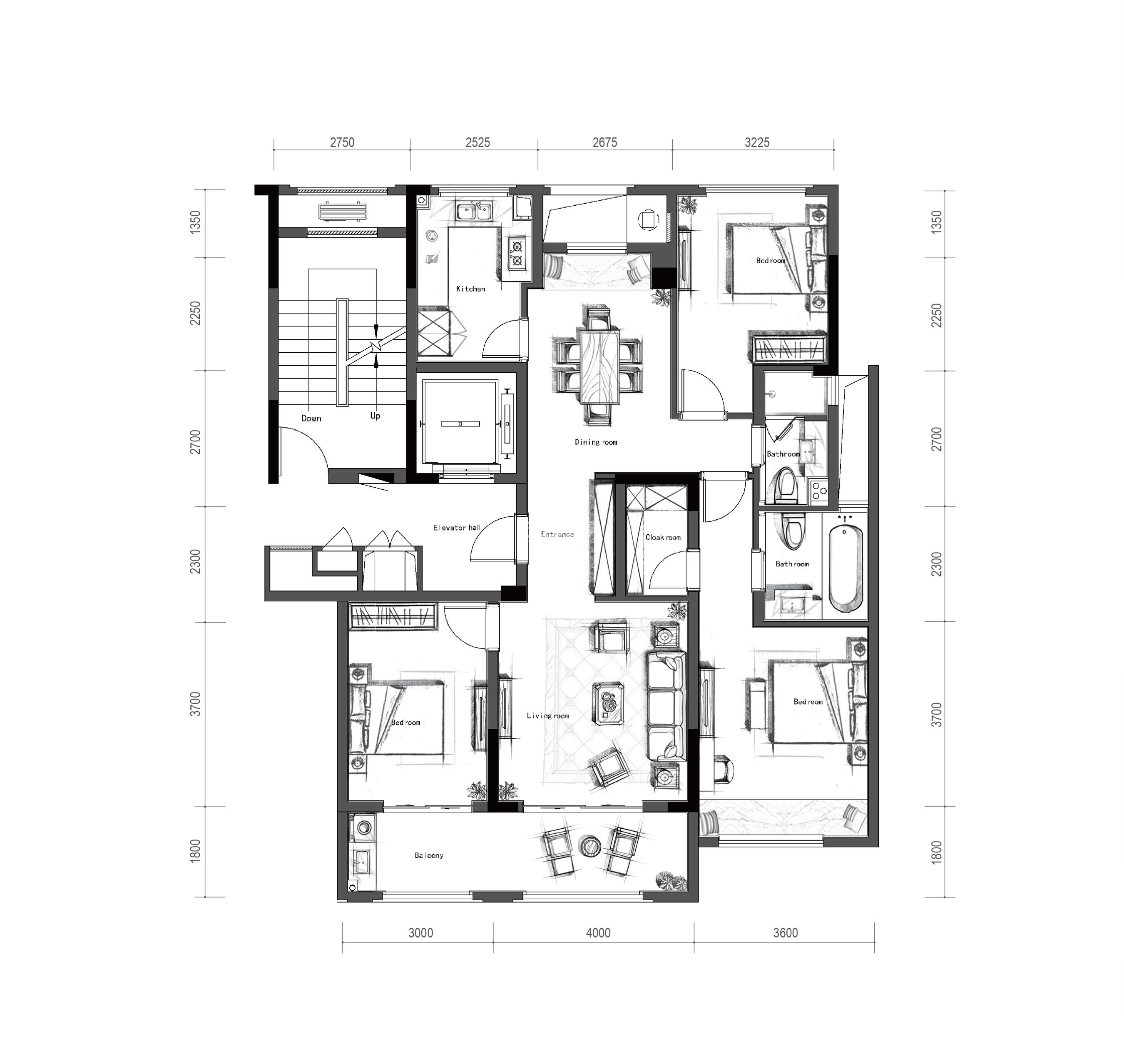 万科新都会1958项目1、2、4号楼【柯罗之梦】户型 125㎡