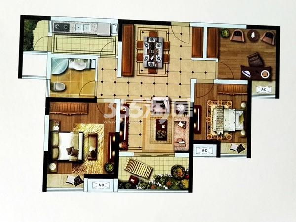 G3户型三室两厅一卫