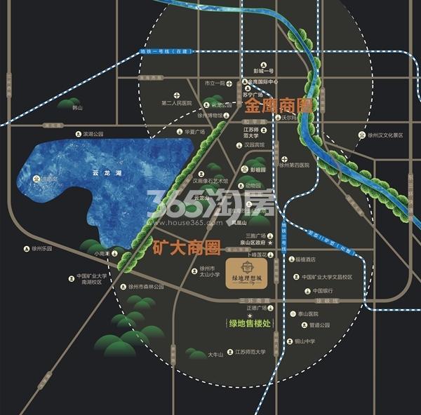 绿地理想城交通图