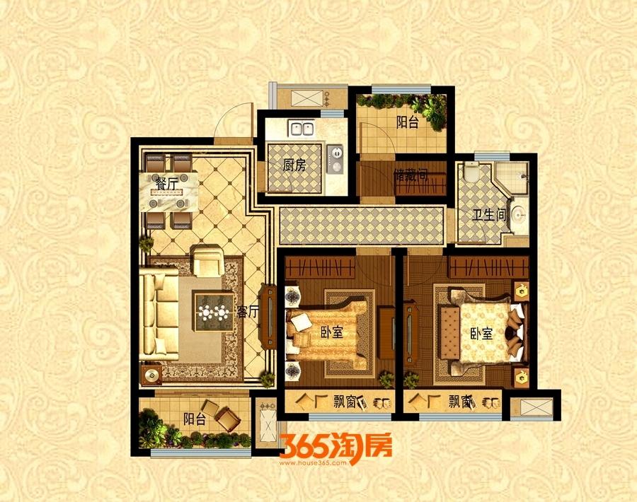 皖江壹号院92平A户型(高层)