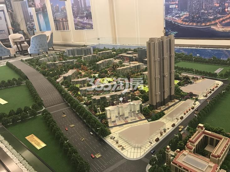 世茂外滩新城项目沙盘实景图(02.12)