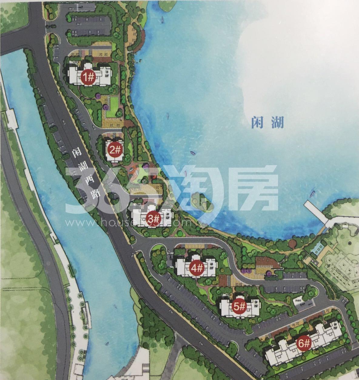 东海闲湖城玉屏蓝湾鸟瞰图