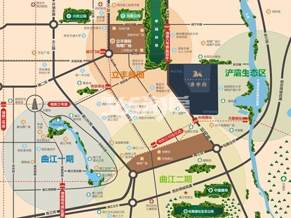 海亮唐寧府交通图