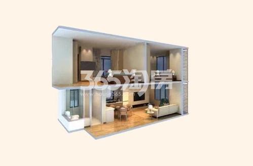 电建地产海赋尚城41㎡公寓户型图