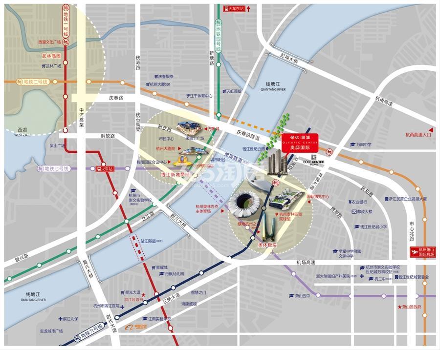 保亿绿城奥邸国际交通图