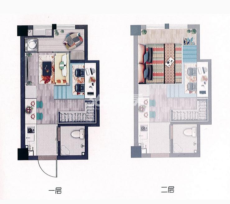 53平米自由女神公寓户型