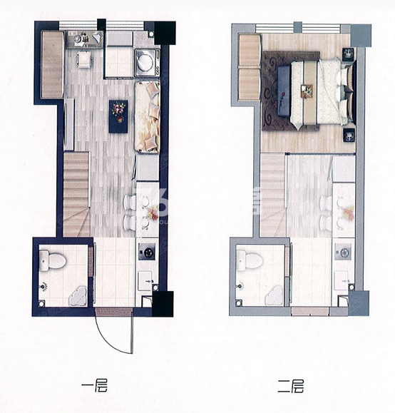 53平米艺术之家公寓户型