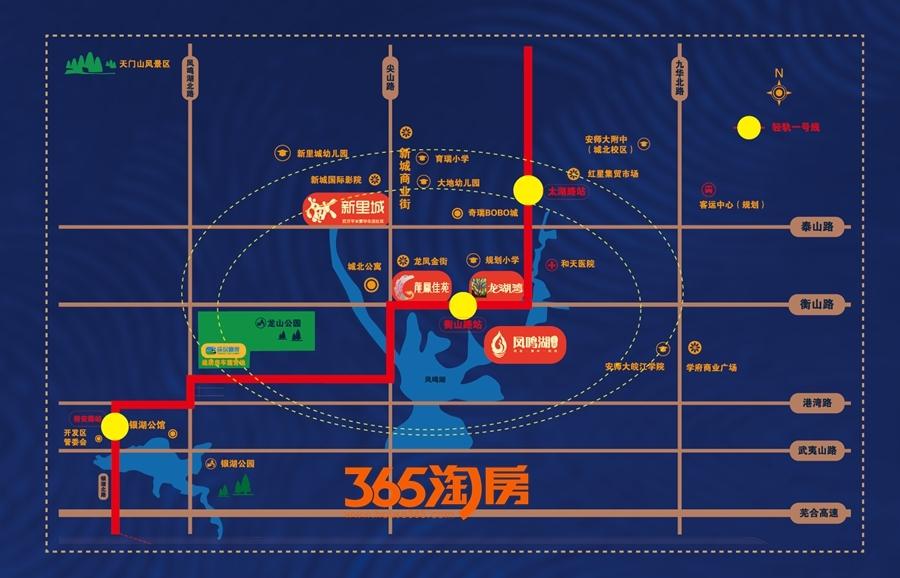 卓瑞北宸龙湖湾交通图