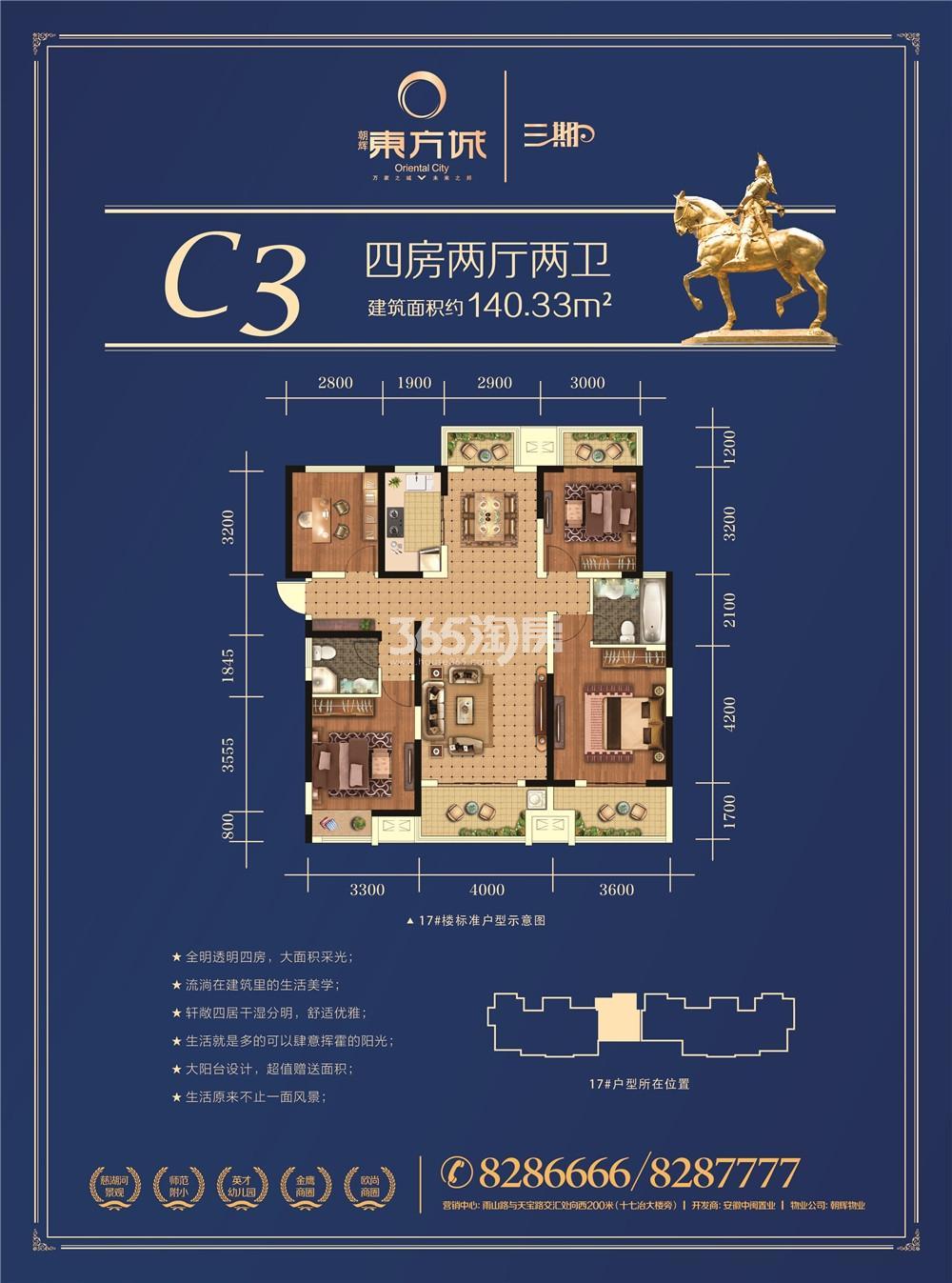 朝辉东方城三期C3户型图