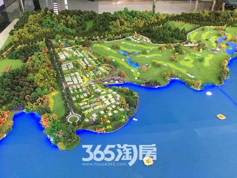 美好紫蓬山壹号沙盘区块实景图(2017.9.4)