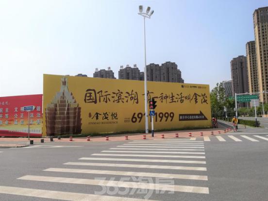 滨湖金茂悦周边道路实景图(9.29)