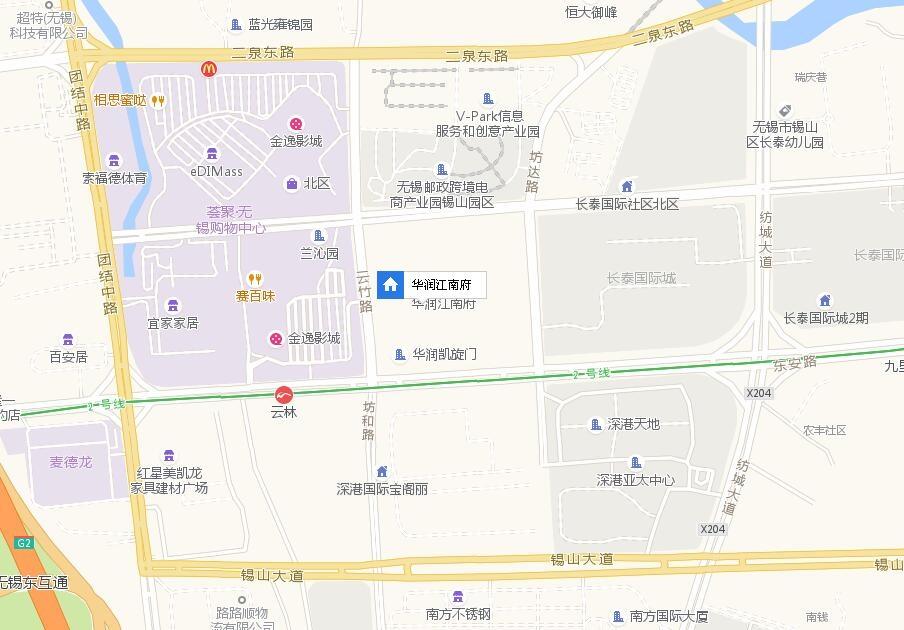 华润江南府交通图