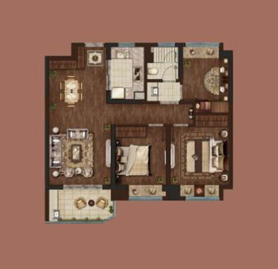 绿地·海悦三室两厅一卫95㎡户型