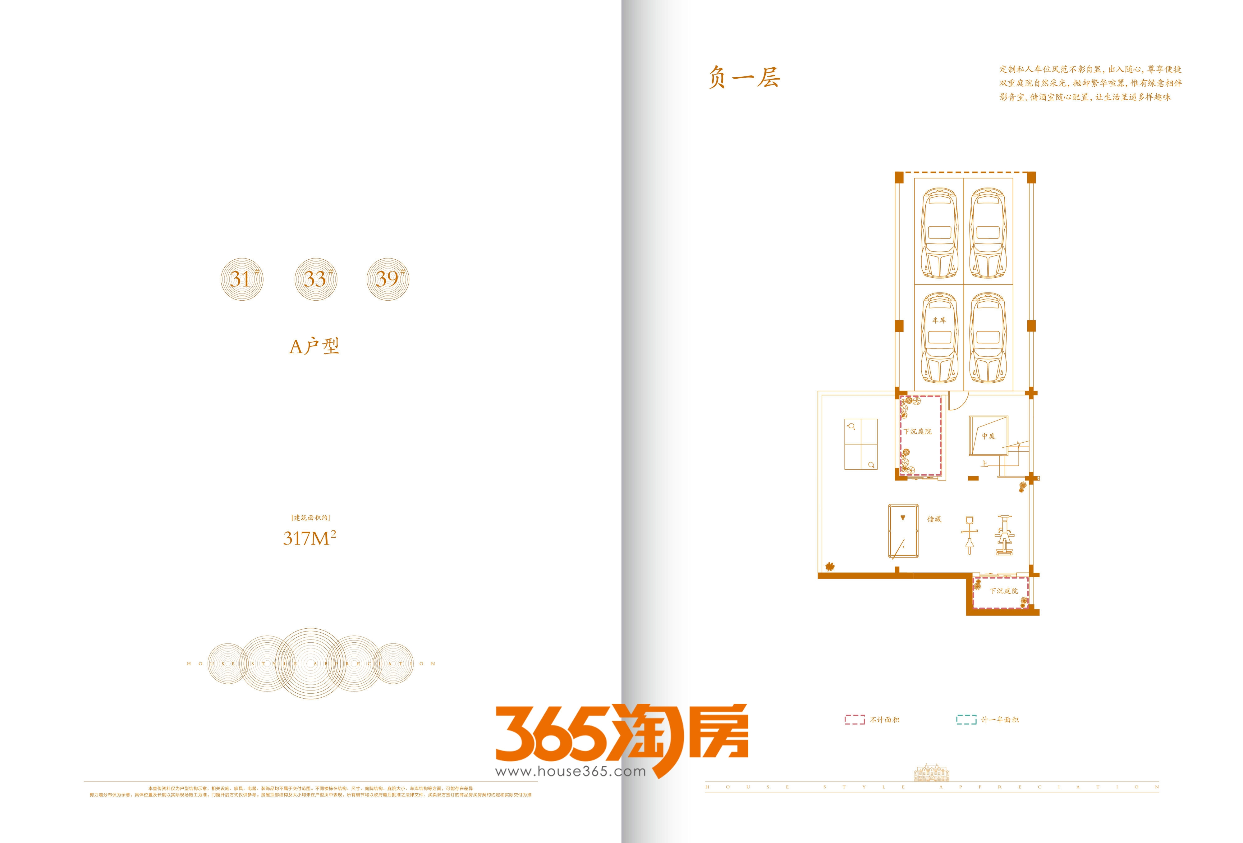 合肥云谷别墅317㎡负一层户型图