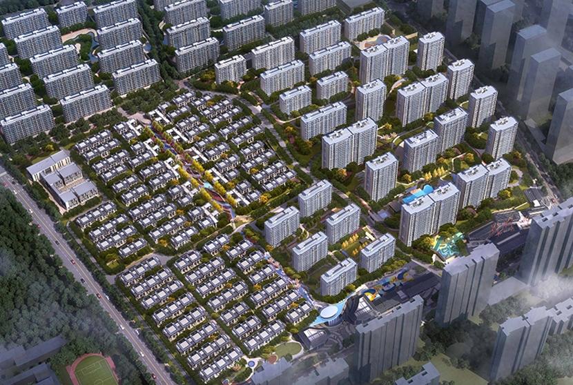 越秀星悦城一期鸟瞰图