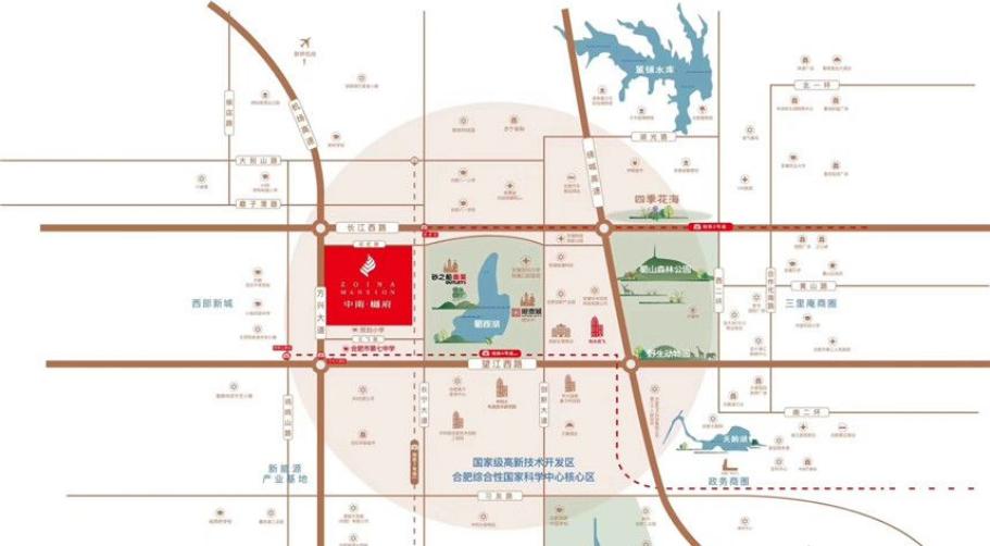 中南樾府交通图