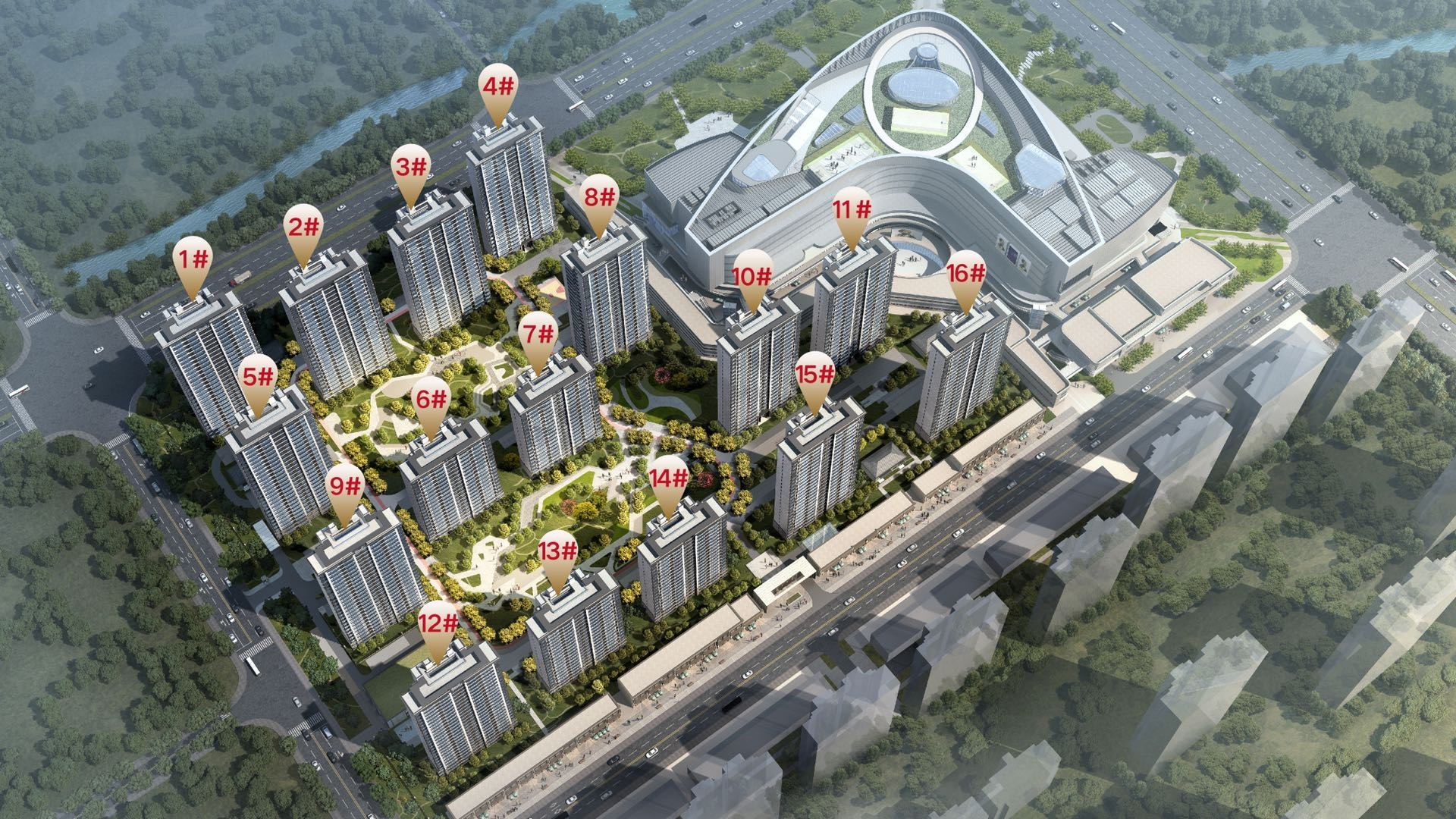 苏宁悦城(北区)鸟瞰图