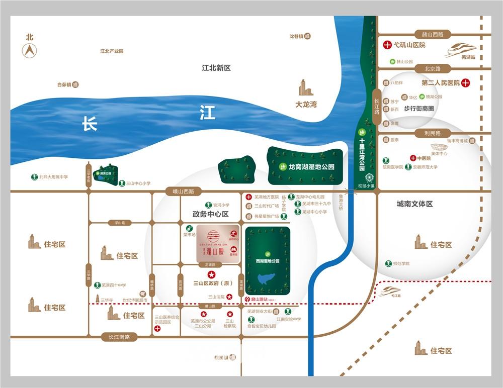 港龙湖山映交通图