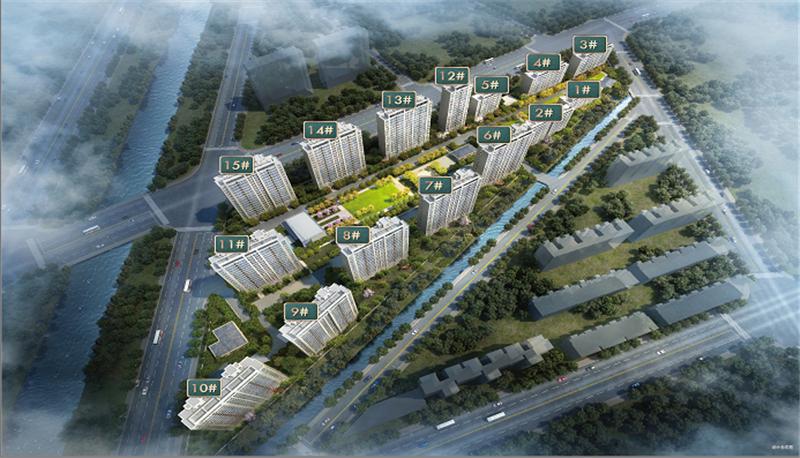 溪语兰庭项目鸟瞰图