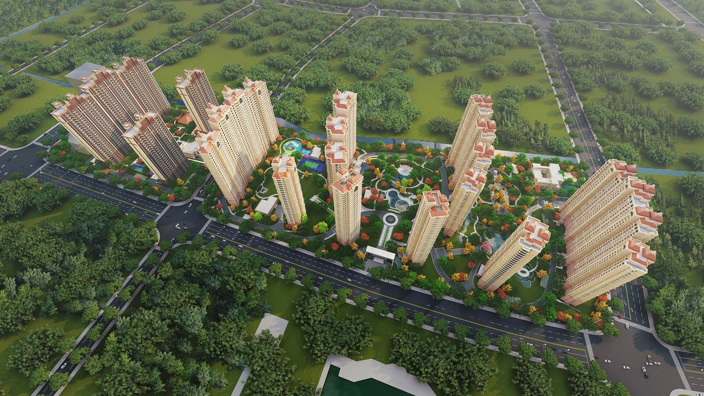 东城中央府二期鸟瞰图